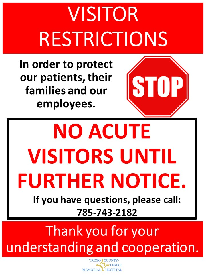 Visitor Restrictions   Coronavirus   No visitors